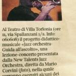 NTJO Villa torlonia Guida all'ascotlo Thad Jones Mel Lewis - Corriere della sera