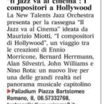 Rassegna il jazz va al cinema I compositori di Hollywood 1
